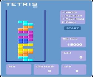 Тетрис 2Д онлайн